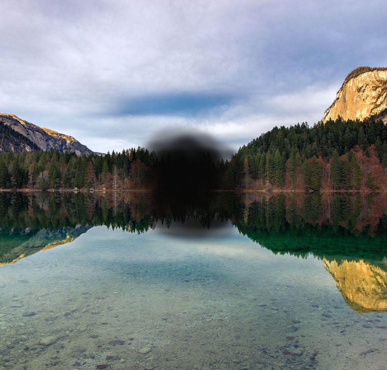 Black spot in vision image
