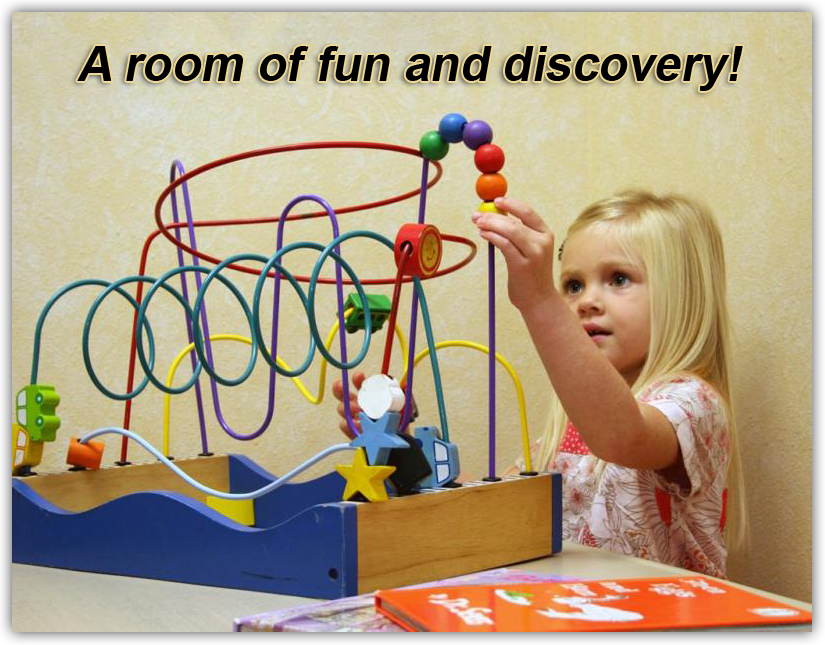 Girl playing with toys image