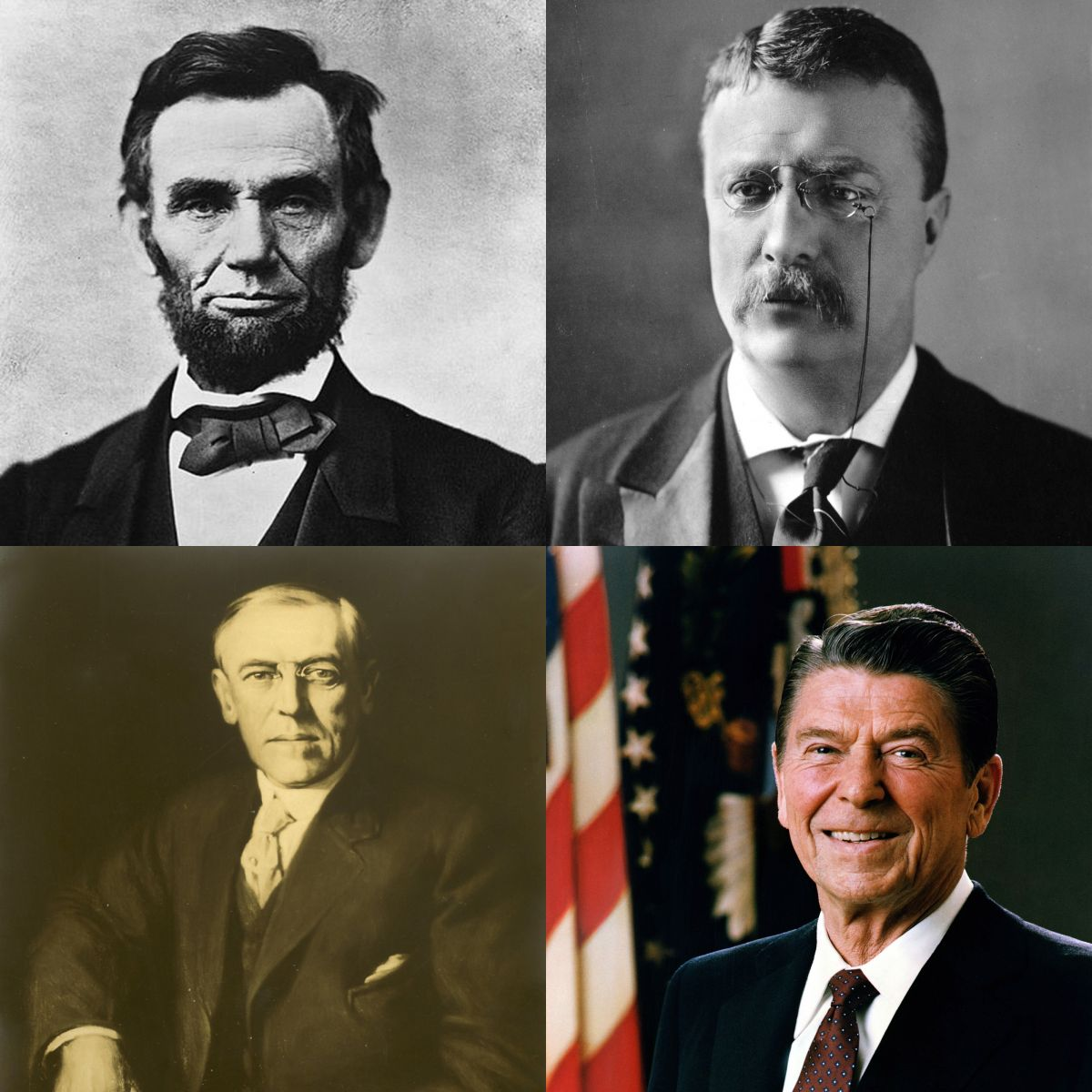 Presidents collage