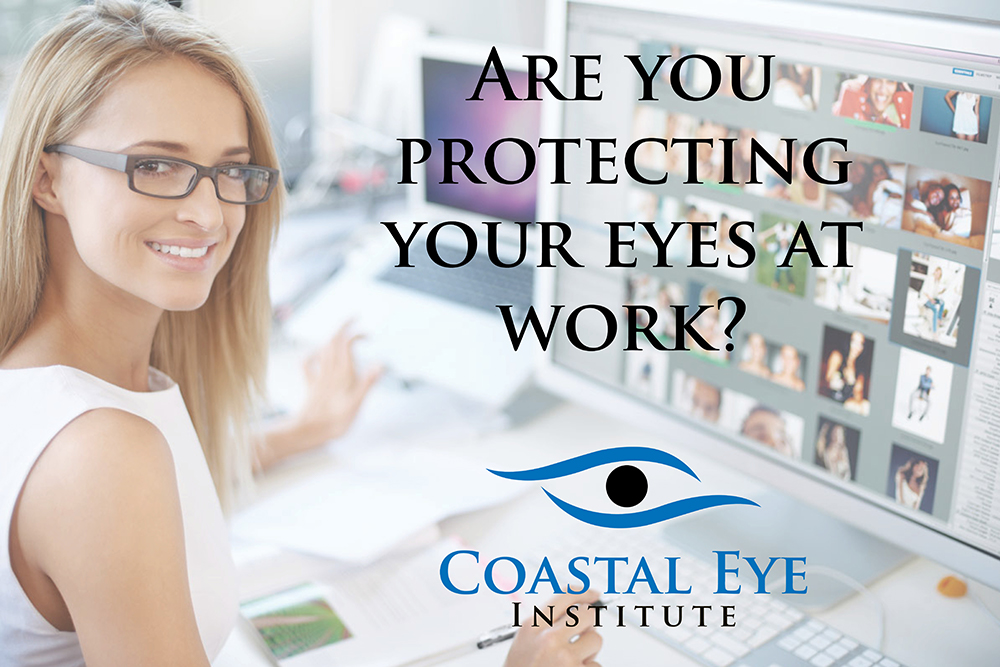 """Are you protecting your eyes at work"" image"